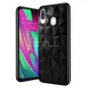Samsung Galaxy A40 FORCELL PRISM TPU fekete szilikon tok