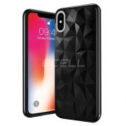 Apple iPhone X FORCELL PRISM TPU fekete szilikon tok