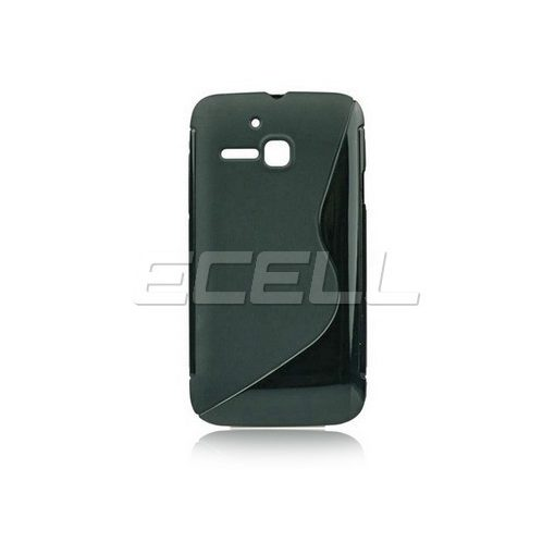 Alcatel One Touch M Pop S-Line szilikon tok fekete